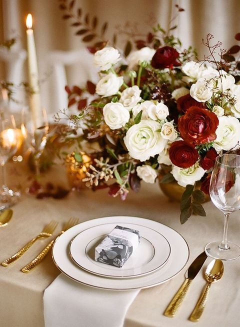 44 Elegant Burgundy And Gold Wedding Ideas | HappyWedd.com