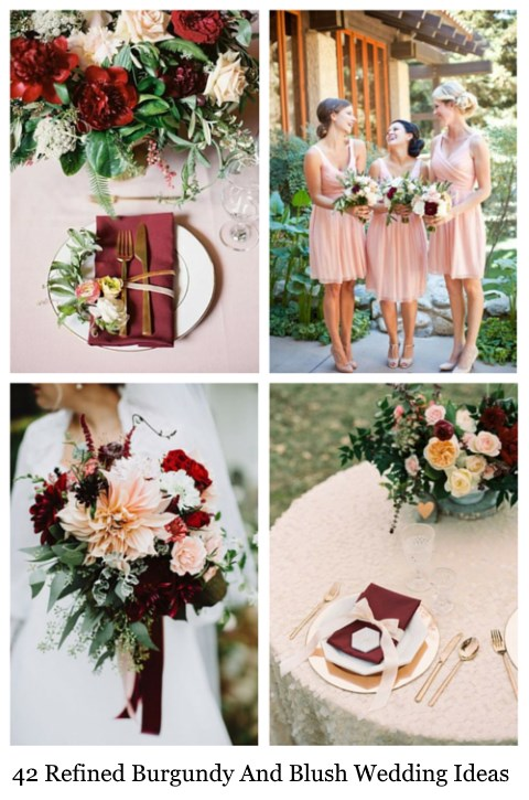 42 Refined Burgundy And Blush Wedding Ideas