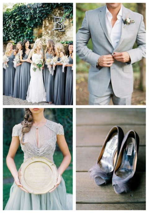 36 Stylish Grey Fall Wedding Ideas