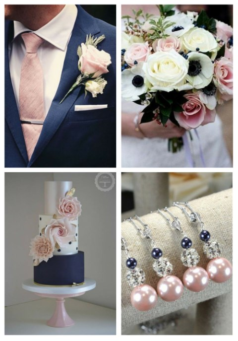 Navy And Blush Wedding.34 Elegant Navy And Blush Wedding Ideas Happywedd Com