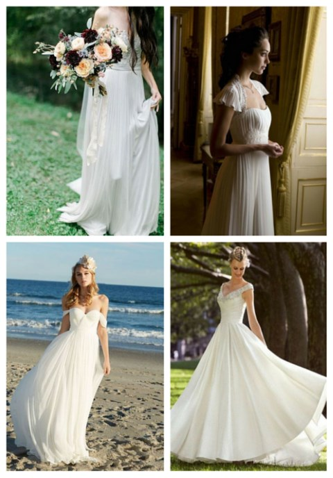 26 Pleated Wedding Dresses You'll Like