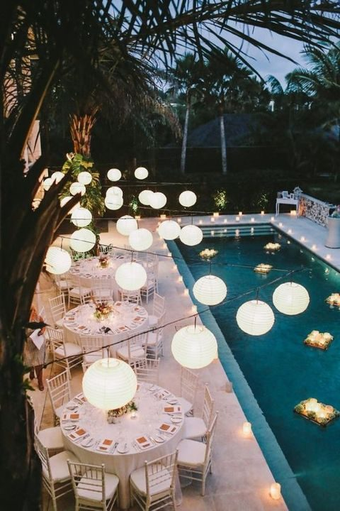 33 Cool Poolside Wedding Ideas Happywedd Com