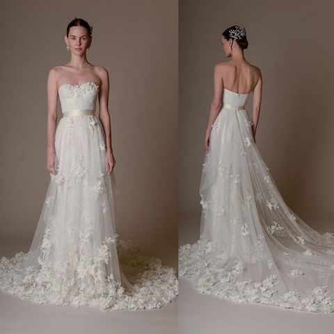 48 gorgeous applique wedding dresses for Marchesa wedding dresses prices