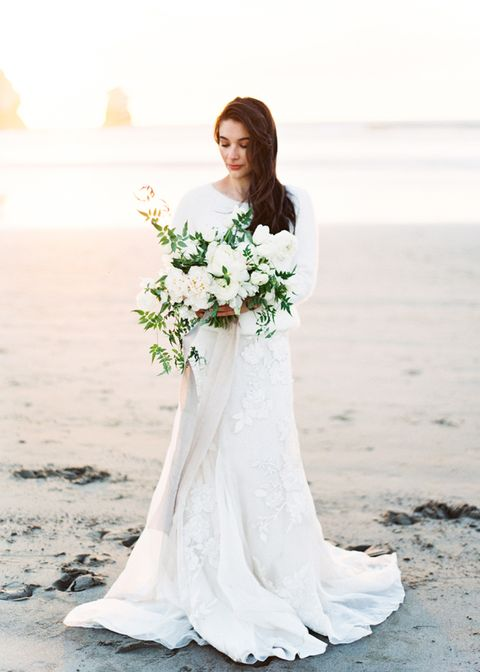 coastal winter 03 - winter beach wedding ideas