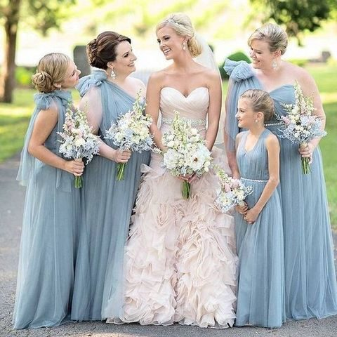 38 dusty blue and blush wedding ideas happywedd by chloe junglespirit Image collections