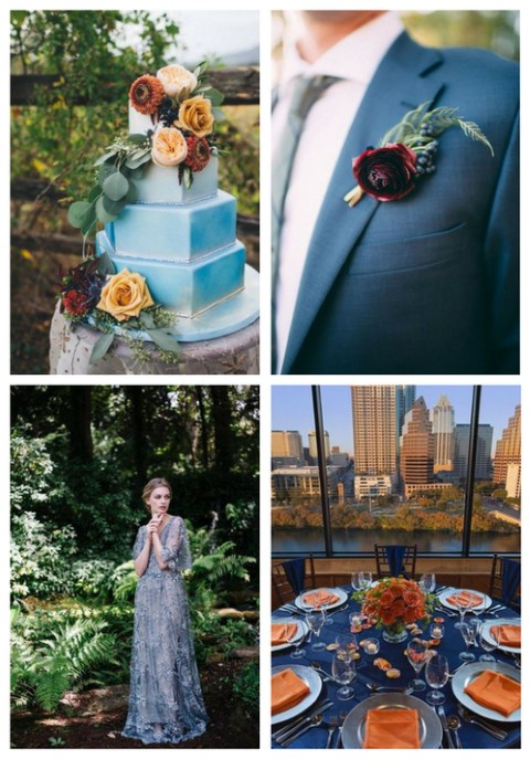 27 Blue Fall Wedding Ideas To Stand Out