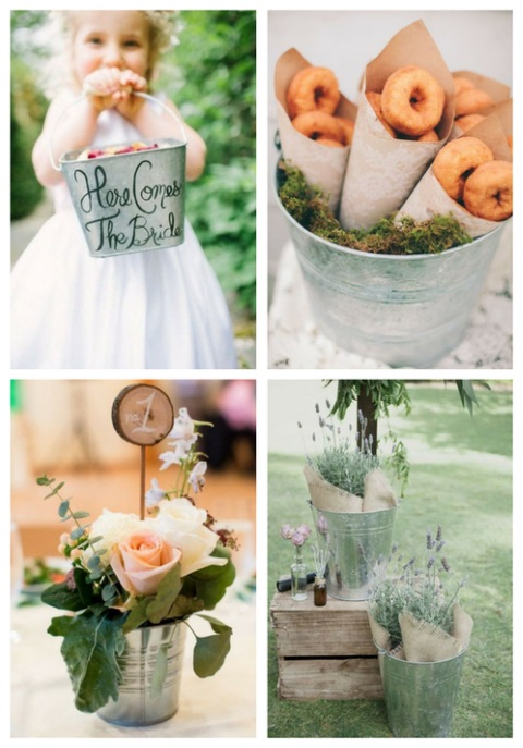 30 Ways To Use Buckets At Your Wedding