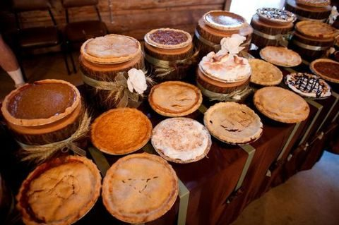 a country or a fall wedding will benefit from delicious home pies