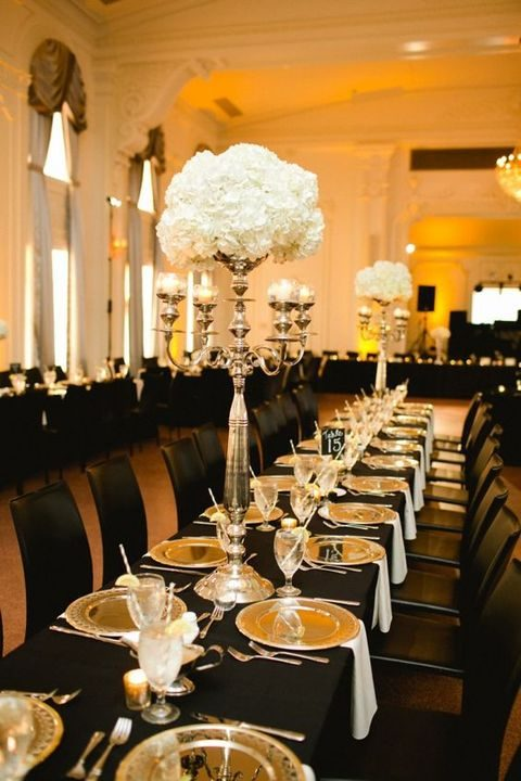 54 Black White And Gold Wedding Ideas HappyWeddcom