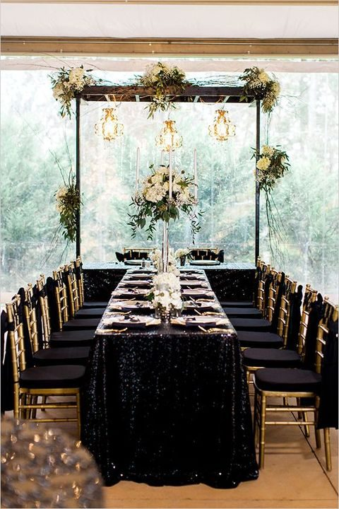 54 Black White And Gold Wedding Ideas Happywedd Com