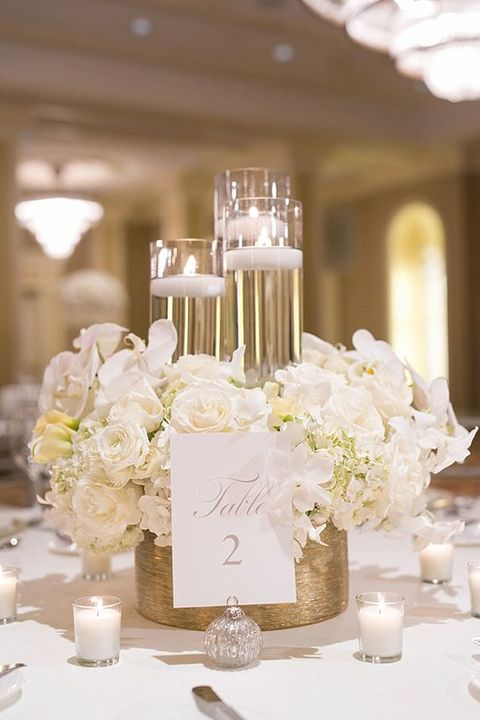 43 glam gold and white wedding ideas happywedd 43 glam gold and white wedding ideas junglespirit Image collections