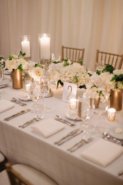 White Gold Wedding Theme Ideas