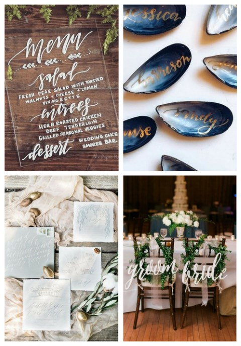 60 Elegant Calligraphy Wedding Ideas