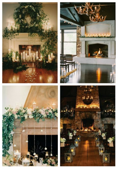 Fireplace Decorating Ideas For Weddings