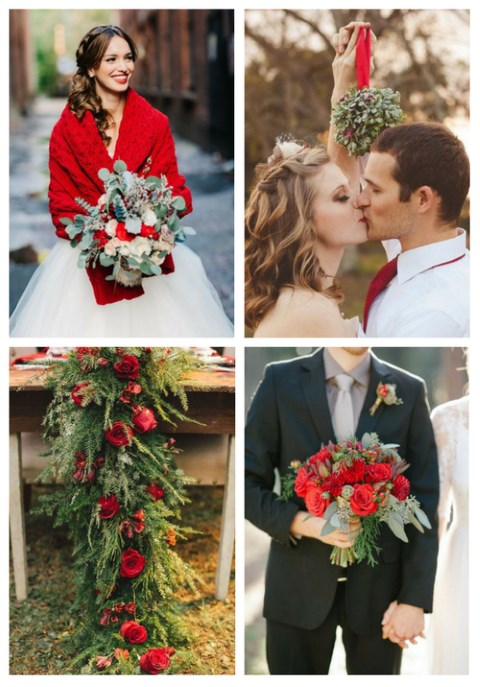 27 Red And Green Winter Wedding Ideas