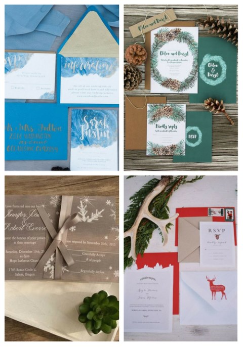 35 Beautiful Winter Wedding Stationery Ideas
