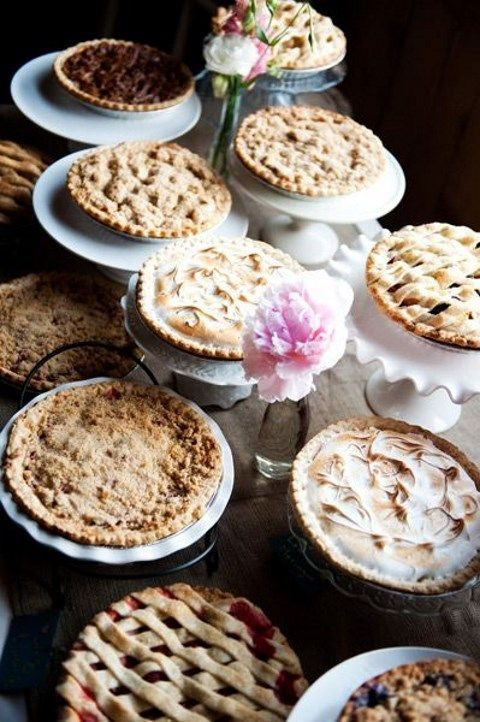 pies are ideal for a homey backyard or rustic wedding