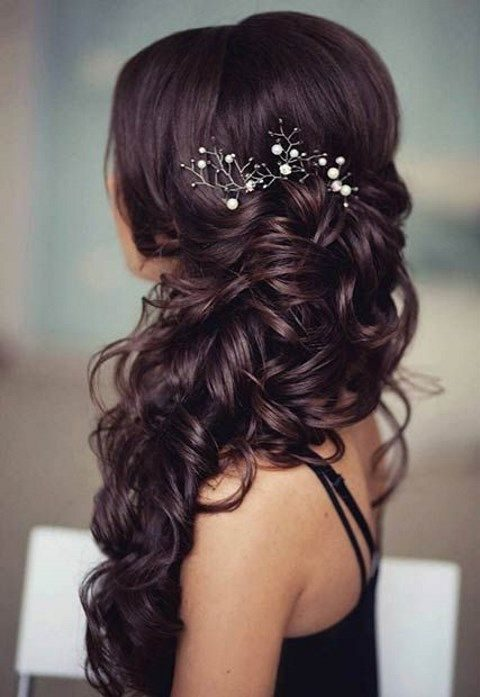 40 gorgeous side swept wedding hairstyles happywedd 40 gorgeous side swept wedding hairstyles junglespirit Image collections