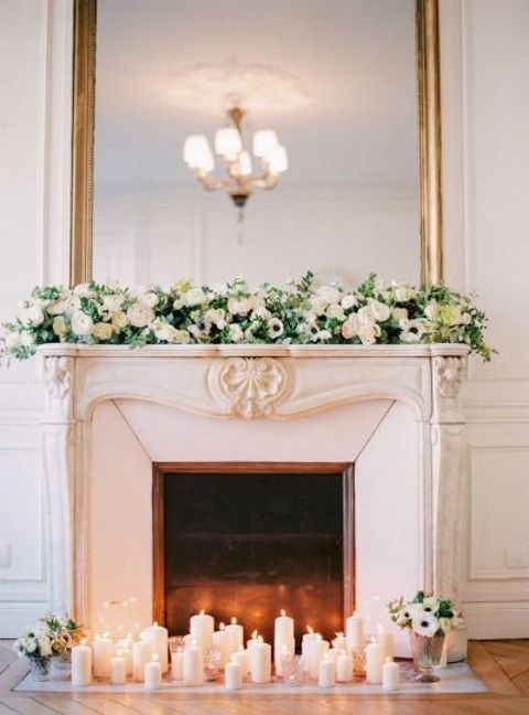 A fireplace is a cool thing for any wedding