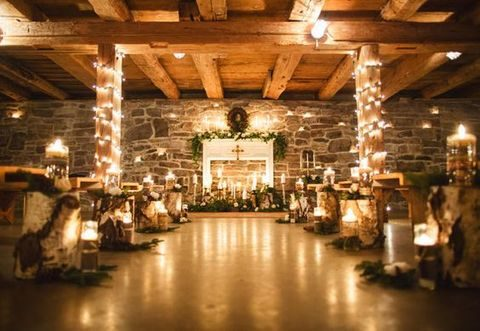 40 Stunning Winter Wedding Lights | HappyWedd.com on christmas house lighting, christmas bash, christmas patio lighting, christmas party lighting, christmas wedding lighting,