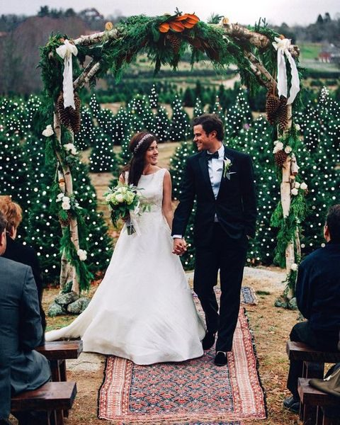 Christmas tree farm will be an amazing location for your wedding