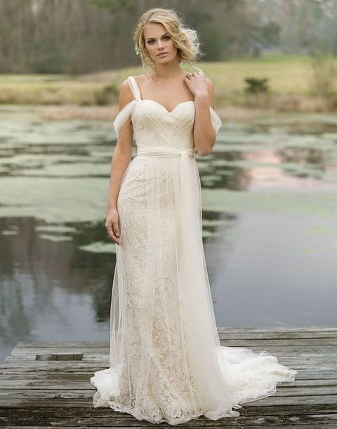 Airy Tulle And Lace Gown With A Sweetheart Neckline