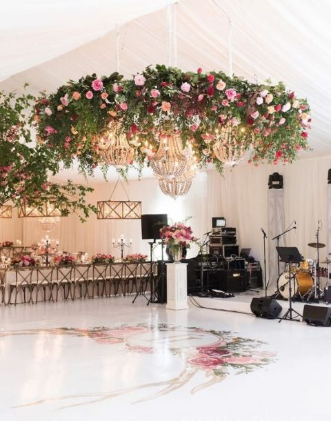 bold flower chandeliers
