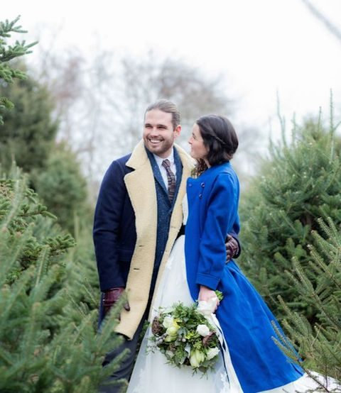 bright warm bridal coat