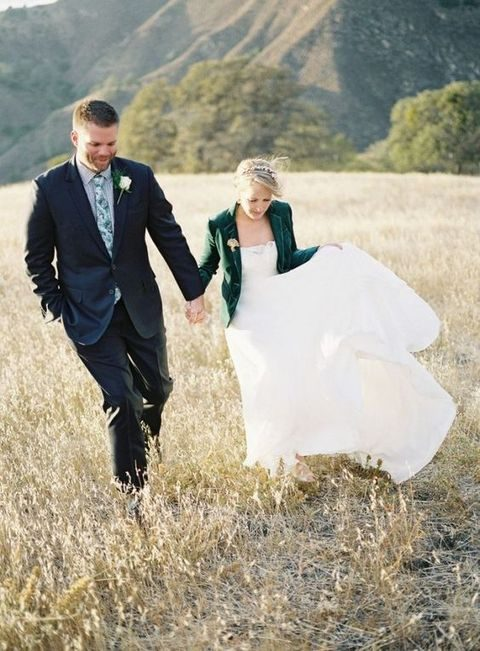 emerald velvet wedding blazer