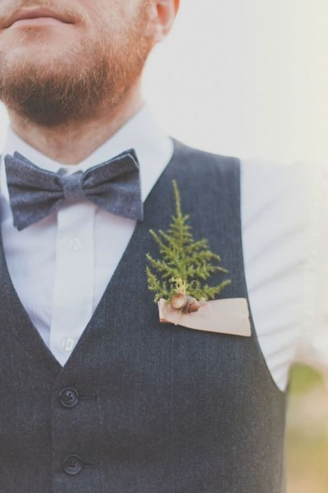 evergreen boutonniere