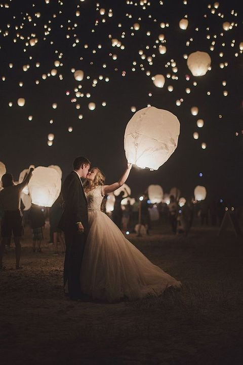 lantern fest at the wedding