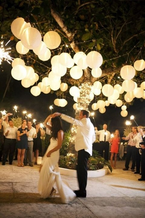 light up the dance floor with paper lanterns
