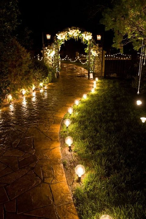 light up the way with bulbs and lights