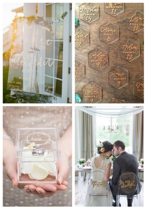 39 Acrylic And Lucite Wedding Decor Ideas