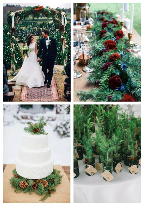 47 Cozy Evergreen Wedding Ideas