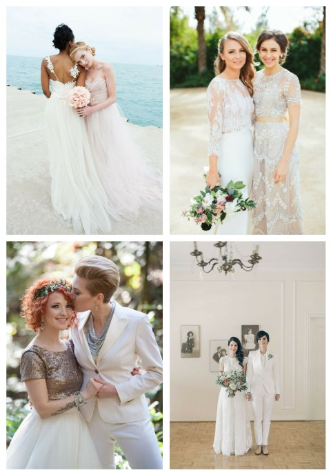 41 Bridal Couple Outfits For Same Sex Weddings
