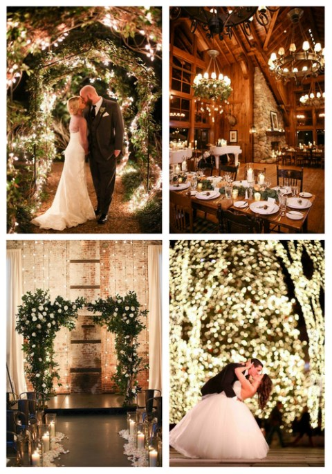 40 Stunning Winter Wedding Lights
