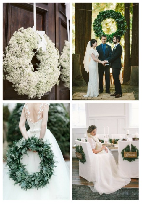 35 Winter Wedding Wreaths That You'll Love