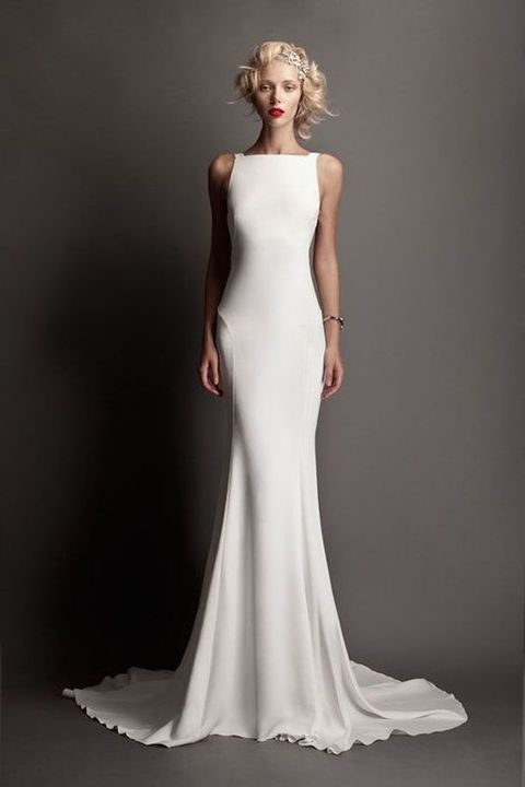 Elegant And Timeless Bateau Wedding Dresses Happywedd Com