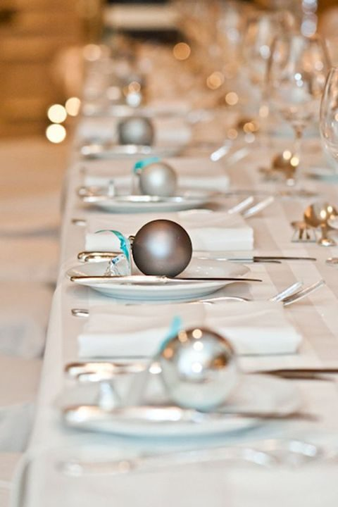 ornaments for each place setting