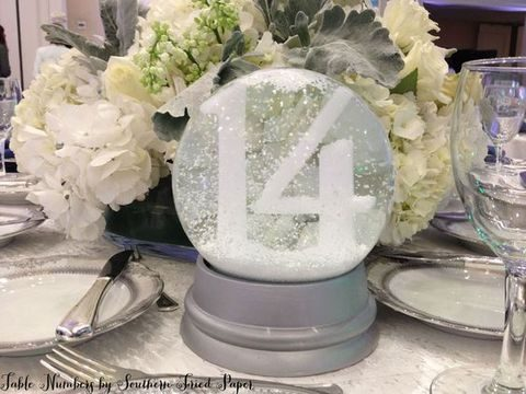 snow globe table number