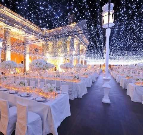 starry night wedding reception