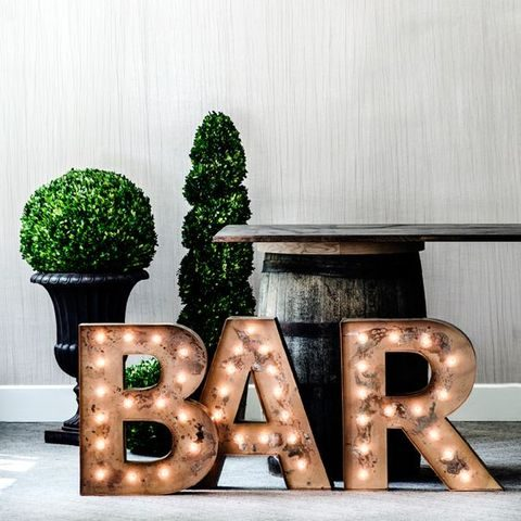 BAR marquee letters for highlighting the bar