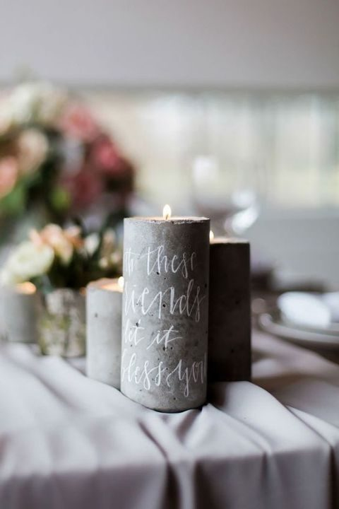 calligraphy candles