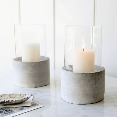 candle holder of concrete
