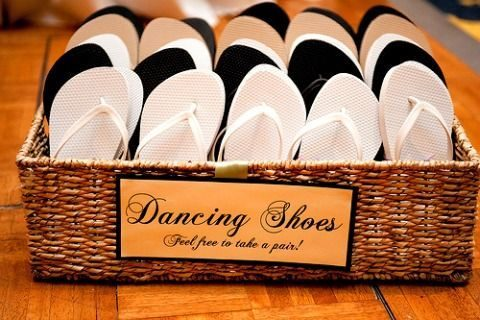 display shoes for your guests in a basket