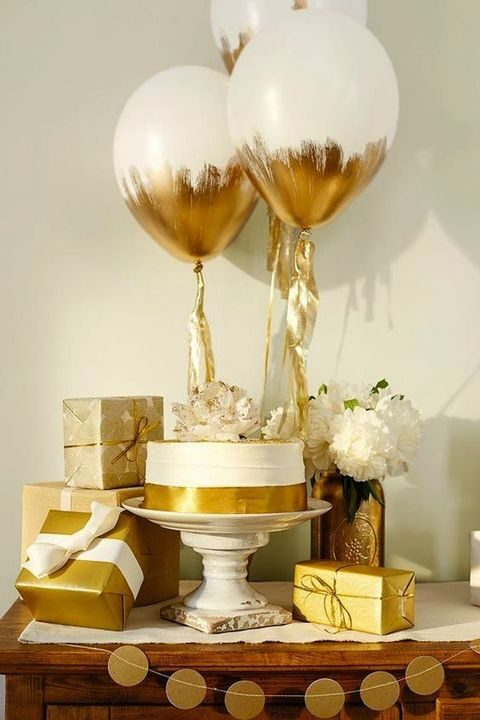 gold and white decor and gifts