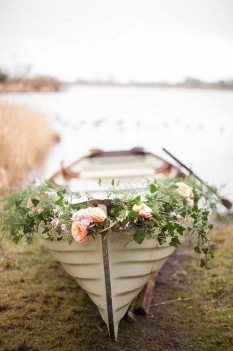 if you are using a boat, cover it with frsh flowers, too
