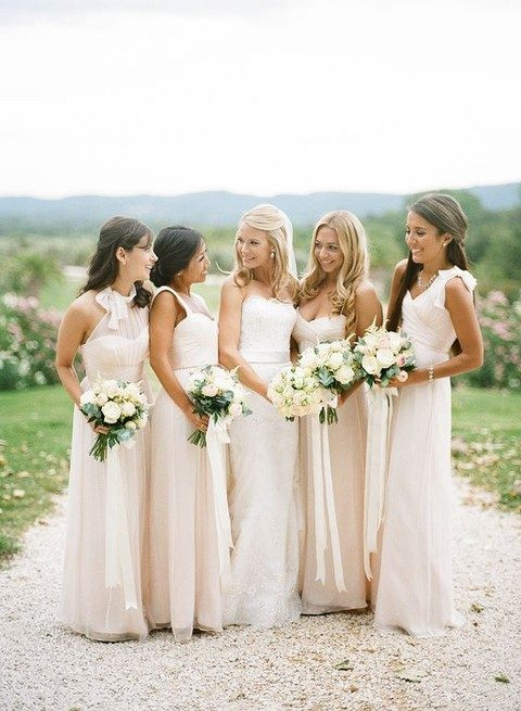 ivory maxi dresses for the bridesmaids