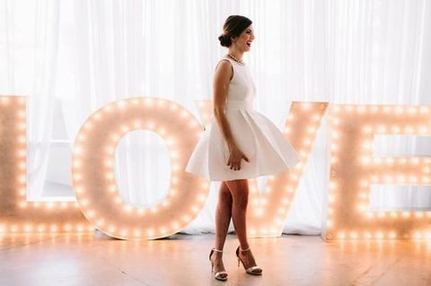 large LOVE marquee letters are amazing for any wedding